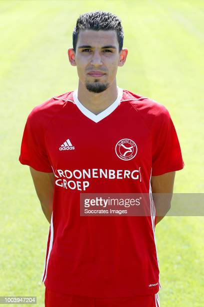 Faris Hammouti of Almere City during the Photocall Almere City at the Yanmar Stadium on July 16 2018 in Almere Netherlands