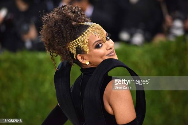 Fariyal Abdul attends 2021 Costume Institute Benefit - In America: A Lexicon of Fashion at the Metropolitan Museum of Art on September 13, 2021 in...