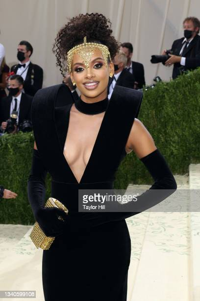 """Fariyal Abdul attends the 2021 Met Gala benefit """"In America: A Lexicon of Fashion"""" at Metropolitan Museum of Art on September 13, 2021 in New York..."""