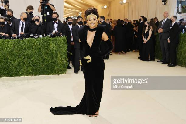Fariyal Abdul attends The 2021 Met Gala Celebrating In America: A Lexicon Of Fashion at Metropolitan Museum of Art on September 13, 2021 in New York...