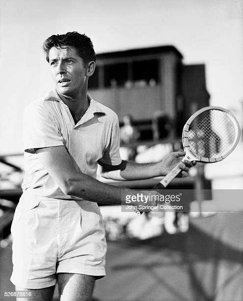 Farley Granger stars as tennis pro Guy Haines in a scene from the 1951 Alfred Hitchcock thriller Strangers on a Train
