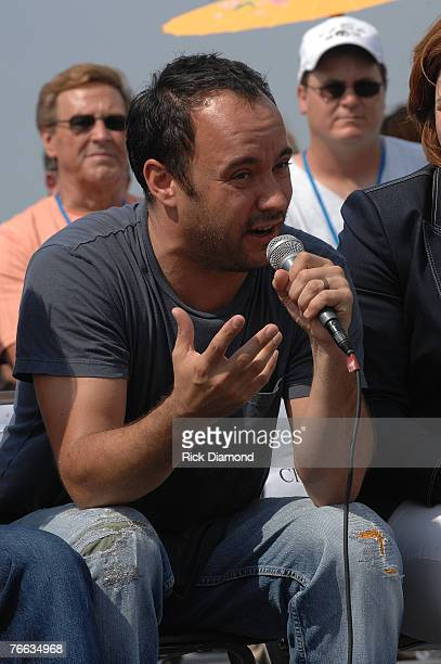 Farm Aid Board Member Dave Matthews, answer questions during The Farm Aid 2007 Press Confrence at ICAHN Stadium on Randall's Island, NY September...