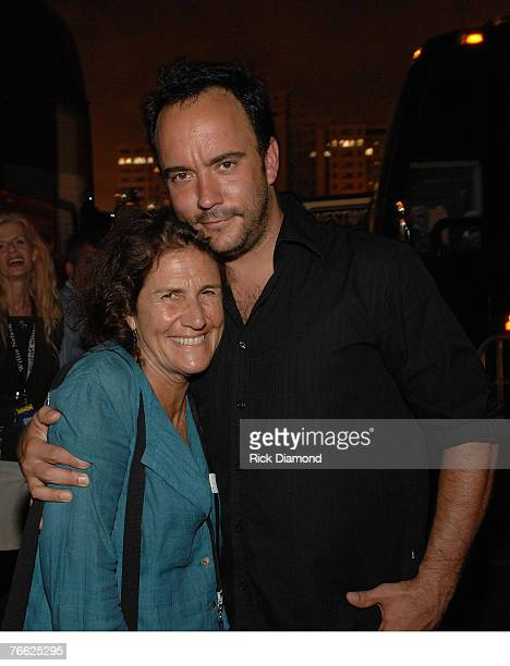 Farm Aid Director Carolyn Mulgar and singer/songwriter Dave Matthews backstage at Farm Aid 2007 AT ICAHN Stadium on Randall's Island, NY September 9,...