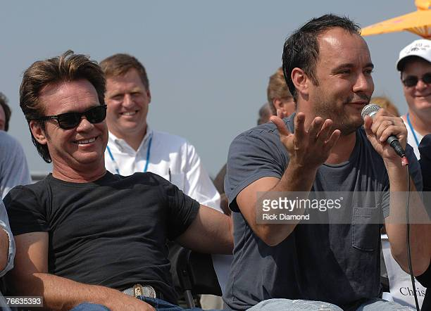 Farm Aid founding member,John Mellencamp along with Board Member Dave Matthews, answer questions during The Farm Aid 2007 Press Confrence at ICAHN...