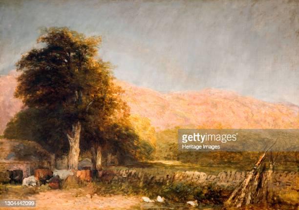 Farm at Bettws-y-Coed, 1856. Artist David Cox the elder.