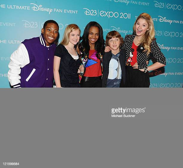 ANT Farm cast members Carlon Jeffery Sierra McCormick China Anne McClain Jake Short and Stephanie Scott attend Day 2 of Disney's D23 Expo 2011 at the...