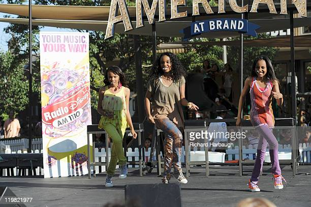 DISNEY ANT Farm China Anne McClain star of Disney ChannelÕs ÒANT FarmÓ and sisters Sierra Aylina McClain and Lauryn Alisa McClain perform for fans at...