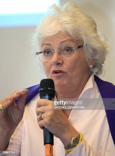 EU Farm Commissioner Mariann Fischer Boel delivers a speech during a press conference on the Common Agricultural Policy during the 45th International...
