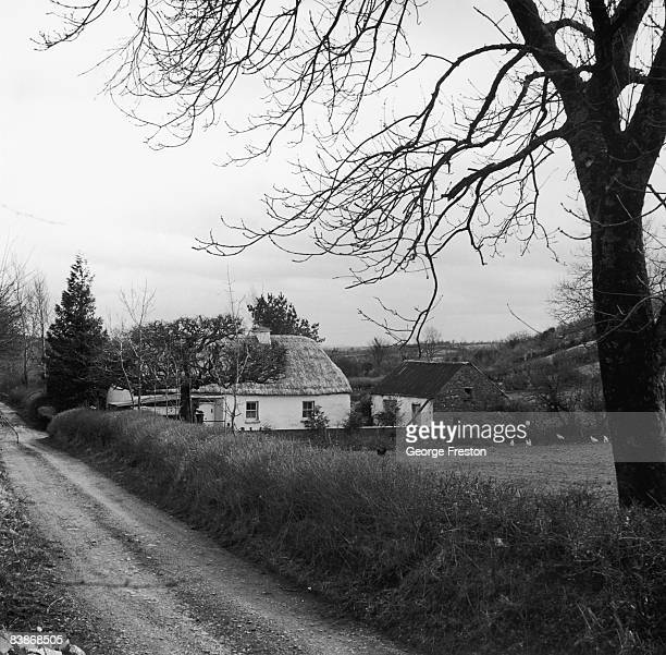 Farm cottage in County Roscommon, Ireland, April 1962.