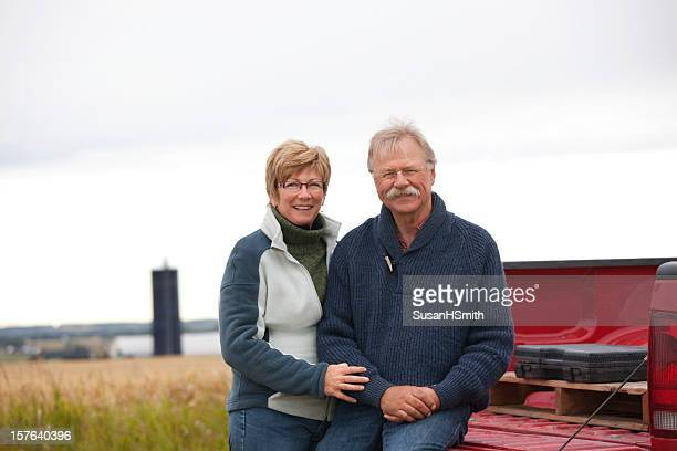 farm couple with truck - wife stock pictures, royalty-free photos & images