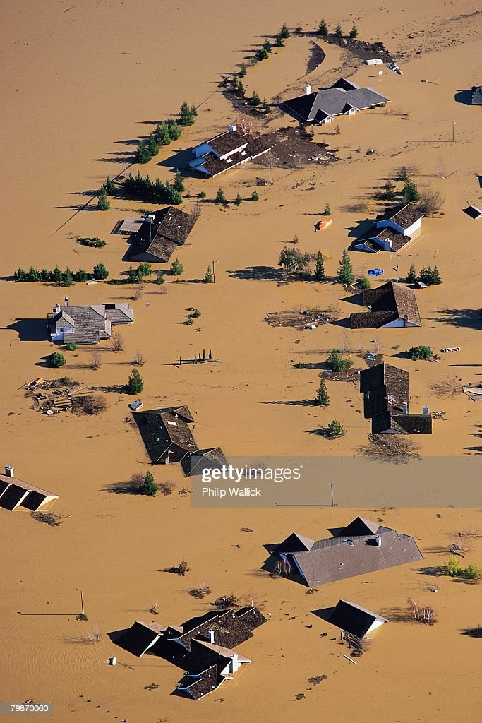 Farm Flooded by Feather River : Stock Photo