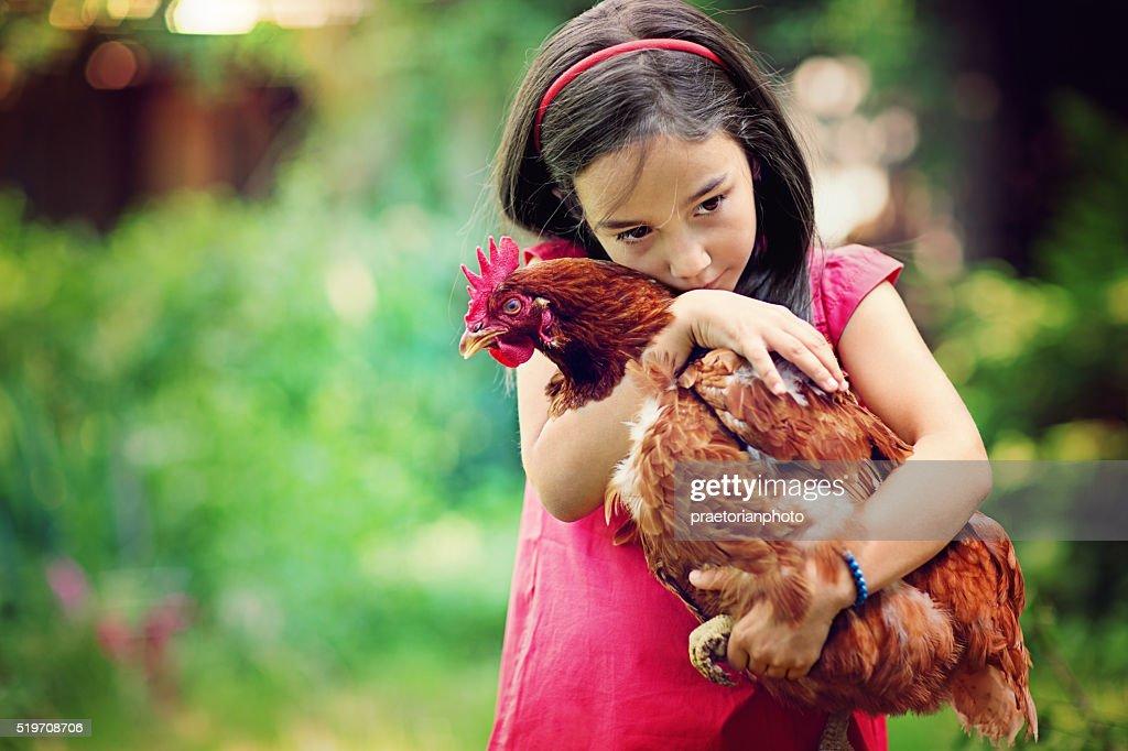 Farm girl : Stock Photo