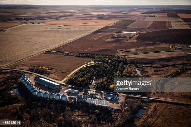 A farm is seen near the land where the proposed Keystone XL pipeline would pass on October 13 2014 south of Pierre South Dakota