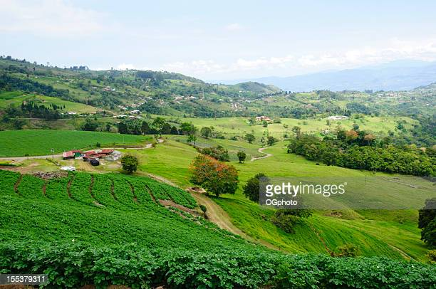farm land and rolling landscape - ogphoto stock pictures, royalty-free photos & images