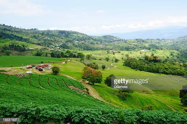 Farm land and rolling landscape