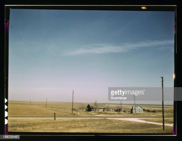 Farm land in Texas panhandle near Amarillo Texas 1943