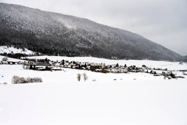 Farm on the mountain village of Diesse, Switzerland