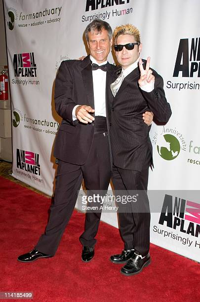 Farm Sanctuary President Gene Baur and actor Cory Feldman attend the Farm Sanctuary 25th Anniversary Gala at Cipriani Wall Street on May 14 2011 in...