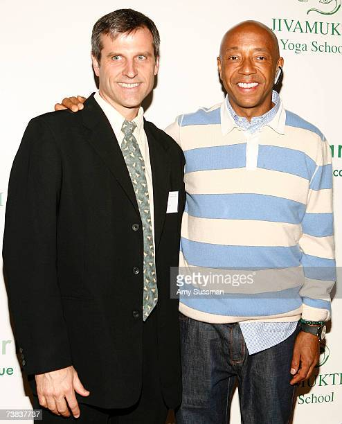 Farm Sanctuary President Gene Baur and Russell Simmons attend Farm Sanctuary in the City A Benefit for Compassion at the Jivamukti Yoga School on...