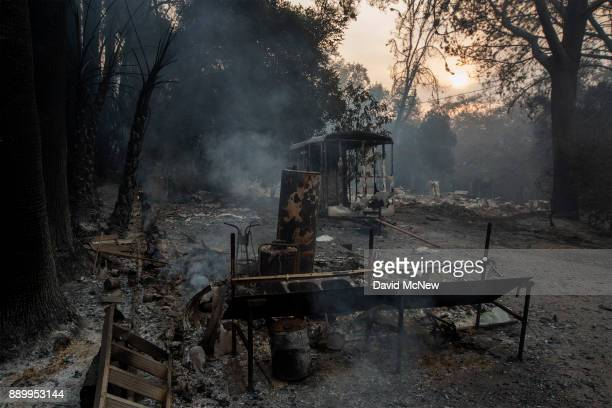 A farm that was heavily damaged by the Thomas Fire is seen on December 10 2017 near Carpinteria California The Thomas Fire has grown to 173000 acres...