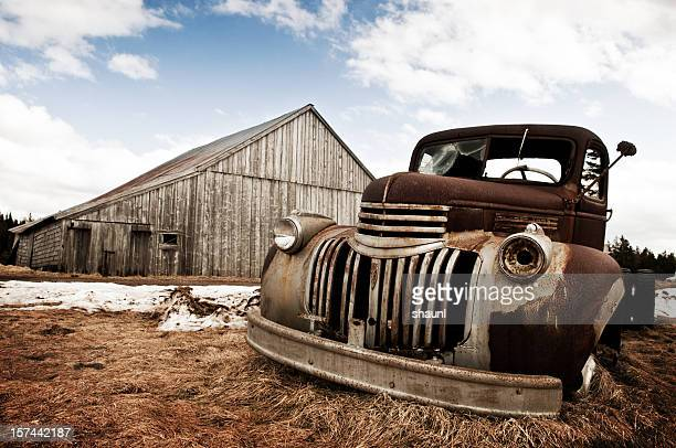 farm truck - old truck stock pictures, royalty-free photos & images