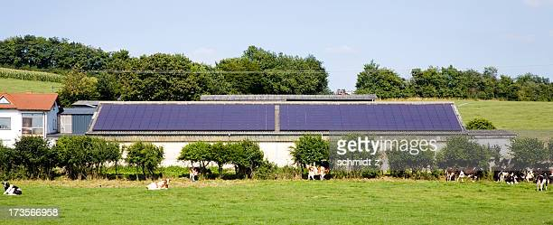Farm mit Solar-Panel