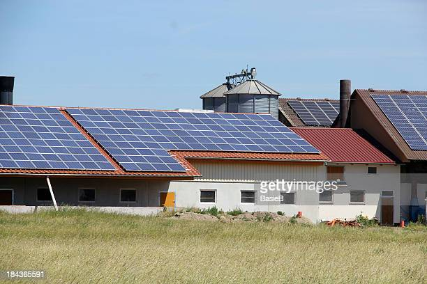 Farm with solar panels on roof