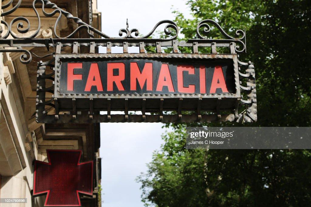 Farmacia Barcelona Sign : Stock Photo