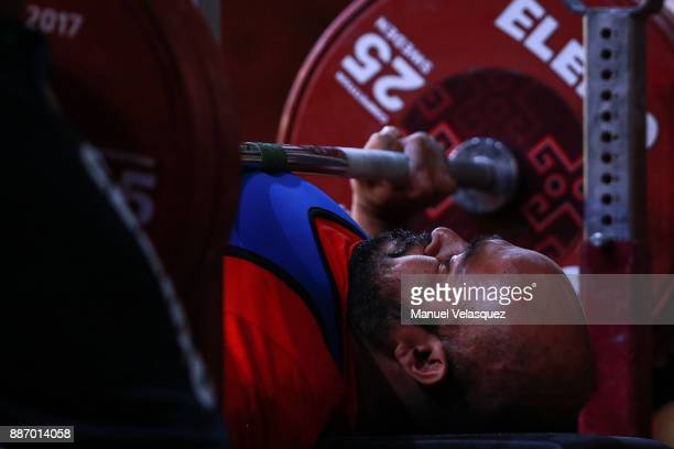Farman Basha of India competes during the Men's Up to 49Kg Group A Category as part of day 3 of the World Para Powerlifting Championship Mexico 2017...