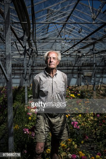 A farmer amongst his flowers