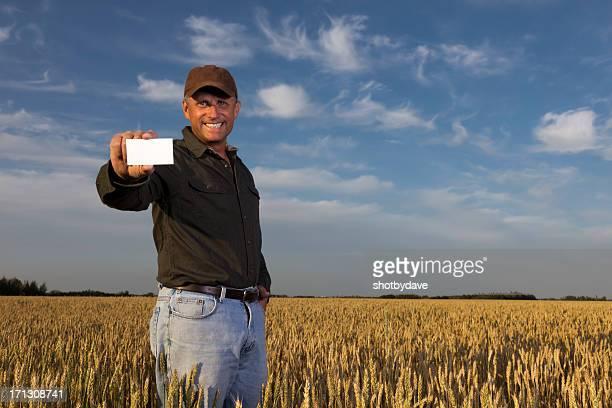 Agricultor e Cartão de Negócios