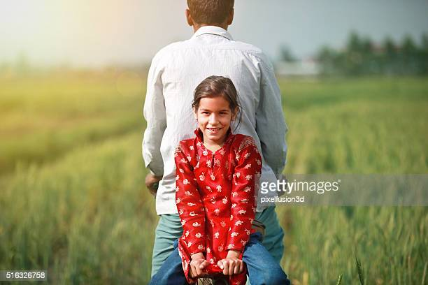 farmer and child - village stock pictures, royalty-free photos & images