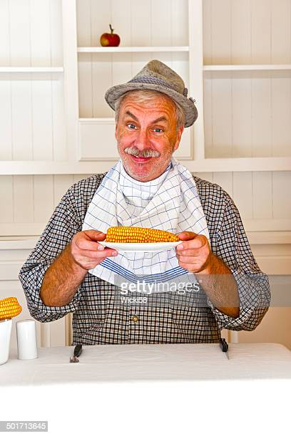 Farmer and his corncob meal