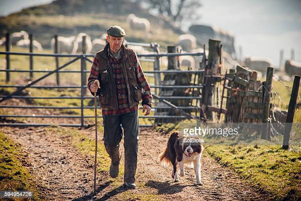 Farmer and his Dog