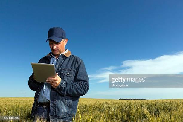 Agriculteur et une tablette