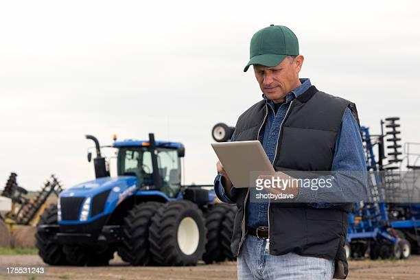 Agriculteur et la technologie