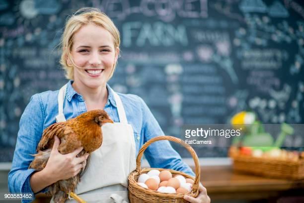 Bauer auf dem Markt