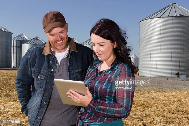 Farmer Couple and Technology