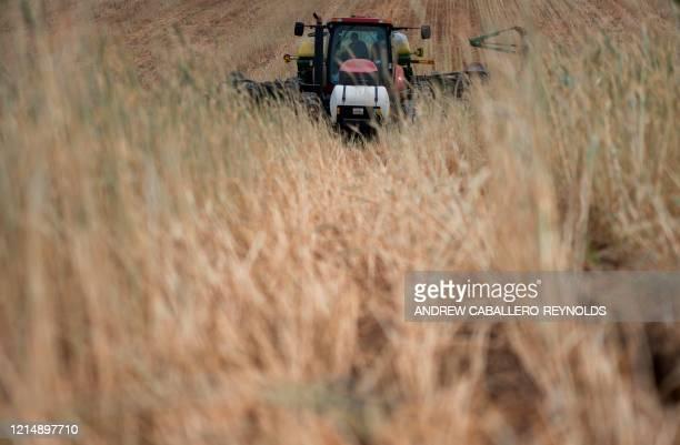 Farmer Dave Burrier plants corn in the Marvin Chapel field in Mount Airy Maryland on May 19 2020 Dave Burrier steered his tractor through a field...