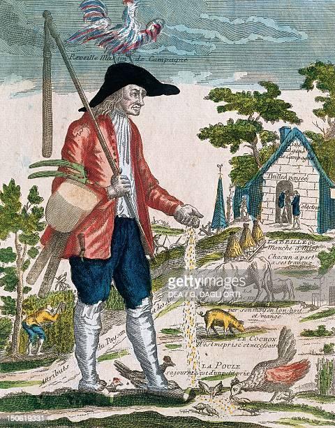 A farmer France 18th century