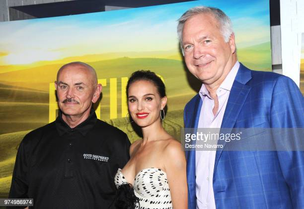 Farmer Frank Reese producer/narrator Natalie Portman and CoPresident of IFC Films Jonathan Sehring attend 'Eating Animals' New York Screening at IFC...
