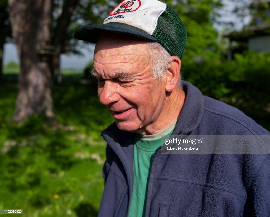 Farmer George Lavalette In Charlotte, Vermont : News Photo