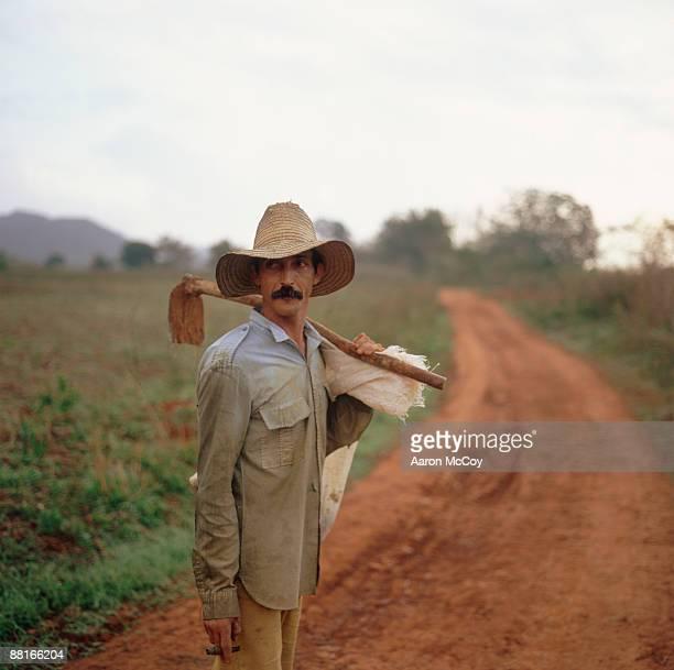 Farmer holding hoe , Vinales , Cuba