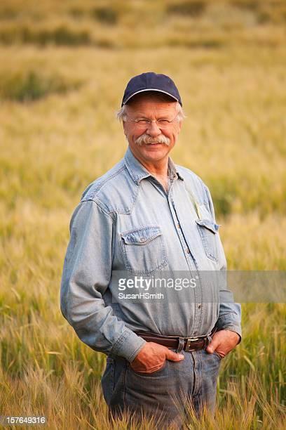 Farmer In Barley
