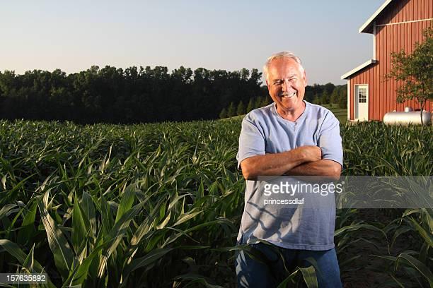 Agricultor no seu campo