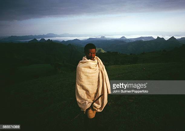 A farmer in the Central Highlands of Ethiopia circa 1965