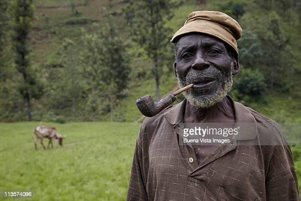 A farmer in the village of Masango