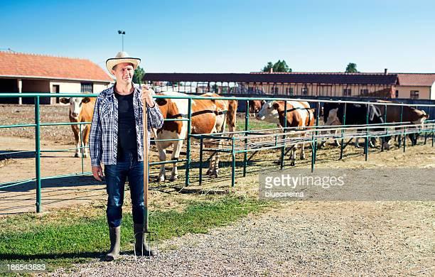 農家が動作農場に、牛ます。