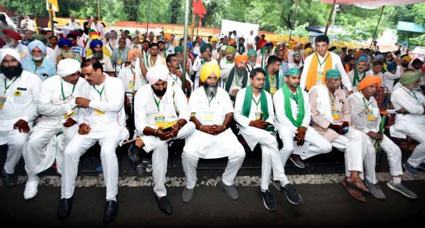 IND: Farmer Unions Held Farmer Parliament At Jantar Mantar To Protest Against Farm Laws