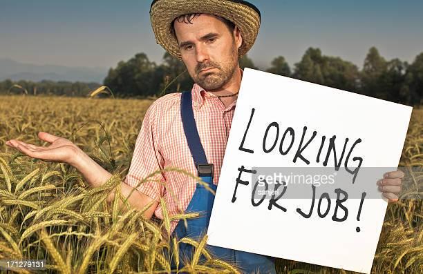 farmer looking for job - werkloosheid stockfoto's en -beelden